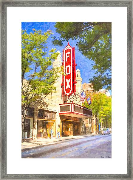Memories Of The Fox Theatre Framed Print