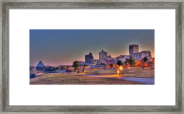 Cityscape - Skyline - Memphis At Dawn Framed Print