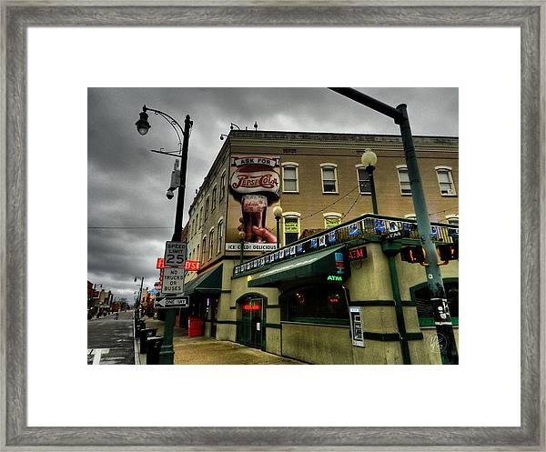 Framed Print featuring the photograph Memphis - Beale Street 006 by Lance Vaughn