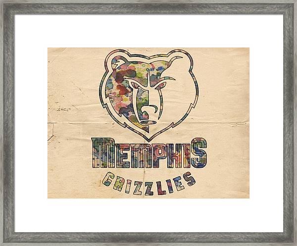 Memphis Grizzlies Poster Art Framed Print