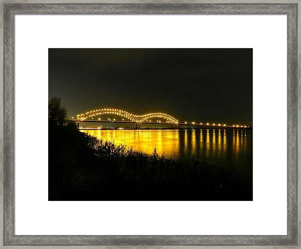 Memphis - Hernando De Soto Bridge 001 Framed Print