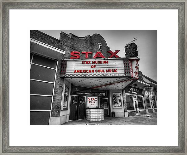 Framed Print featuring the photograph Memphis - Stax Records 001 Ck by Lance Vaughn