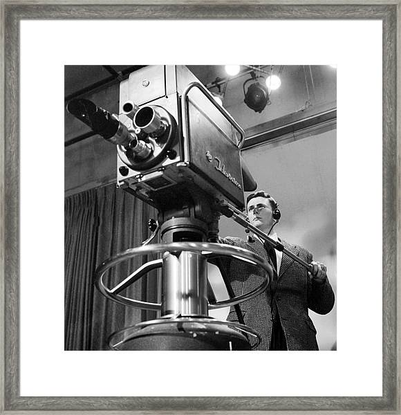 Memphis Television - 1956 Style Framed Print