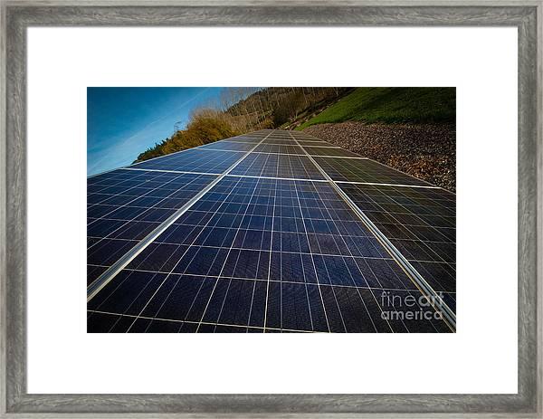 Mendocino Solar Framed Print