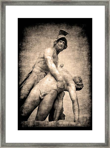 Menelaus And Patroclus In Florence Framed Print