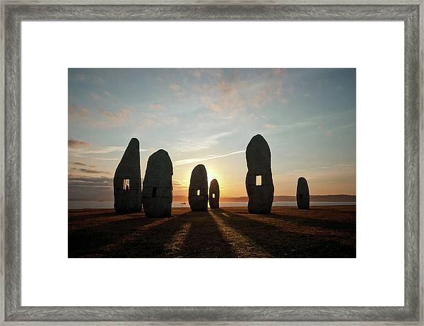 Menhirs For Peace Framed Print