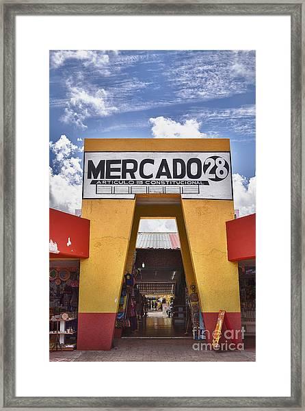 Mercado 28 In Cancun Framed Print