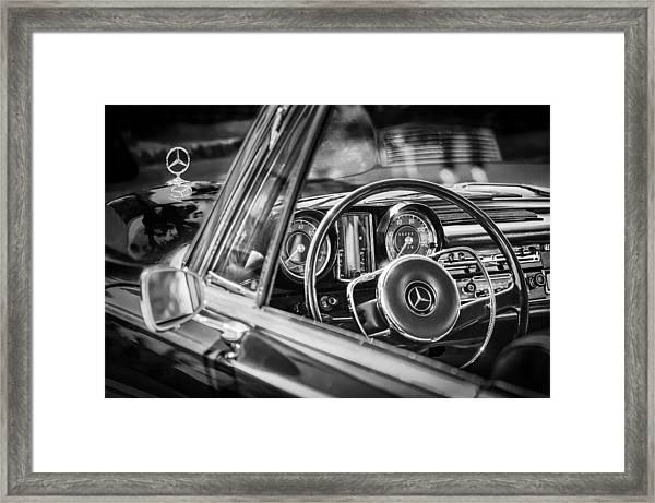 Mercedes-benz 250 Se Steering Wheel Emblem Framed Print