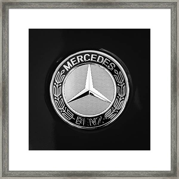 Mercedes-benz 6.3 Gullwing Emblem Framed Print