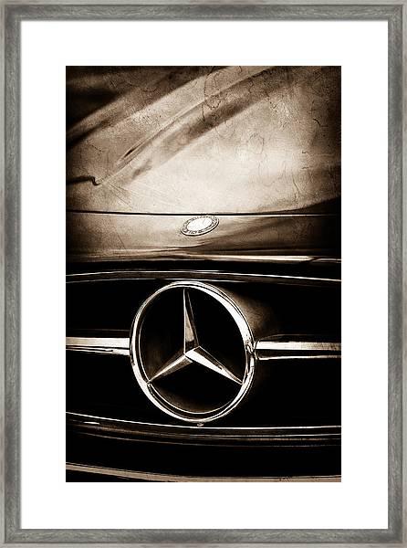 Mercedes-benz Grille Emblem Framed Print