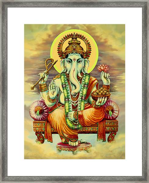 Merciful Ganesha Framed Print