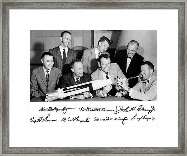 Mercury Seven Astronauts Framed Print