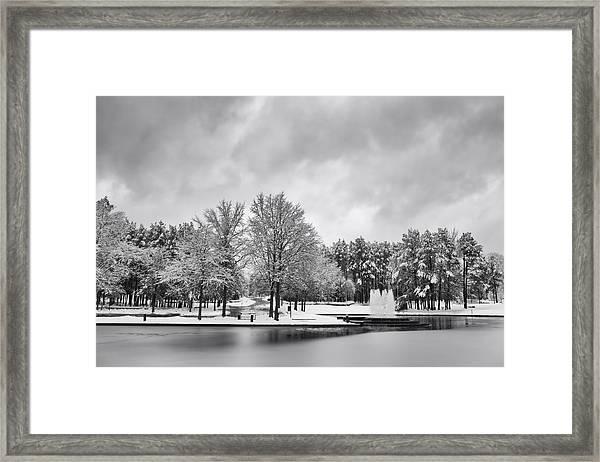 Meridian Parkway Winter Framed Print