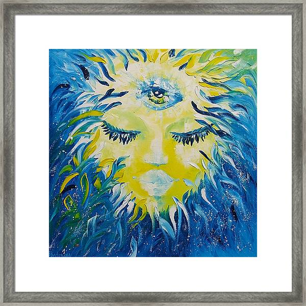 Mermaid Face Portrait Framed Print