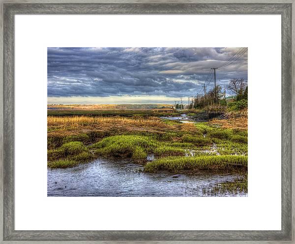 Merrimack River Marsh Framed Print