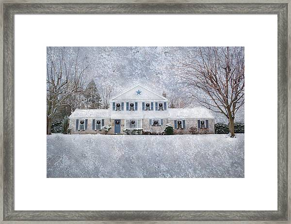 Wintry Holiday Framed Print