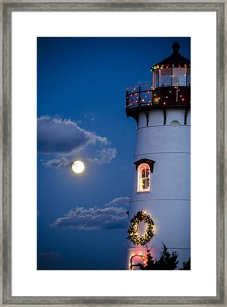 Merry Christmas Moon Framed Print