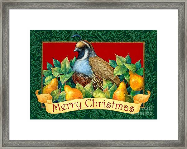 Merry Christmas Partridge Framed Print
