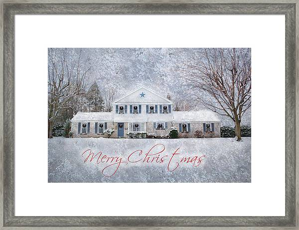Wintry Holiday - Merry Christmas Framed Print
