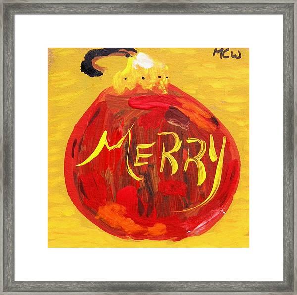 Merry Framed Print by Mary Carol Williams