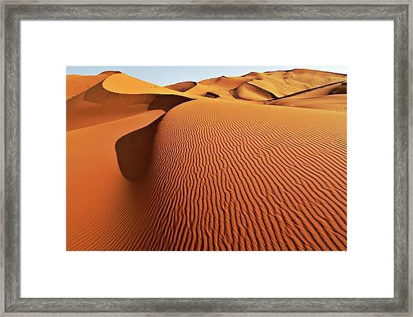 Merzouga Sand Dunes, Sahara Framed Print