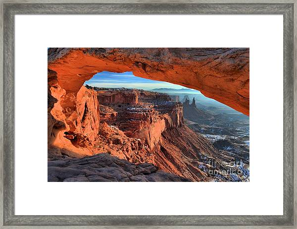 Mesa Arch Frame Framed Print