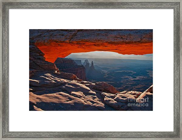 Framed Print featuring the photograph Mesa Arch  by Mae Wertz