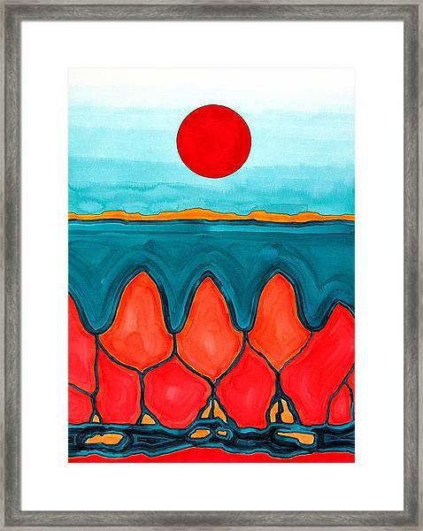 Mesa Canyon Rio Original Painting Framed Print