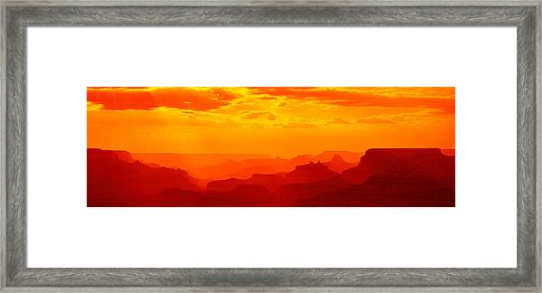 Mesas And Buttes Grand Canyon National Framed Print