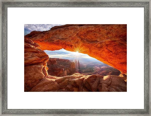 Mesa's Sunrise Framed Print