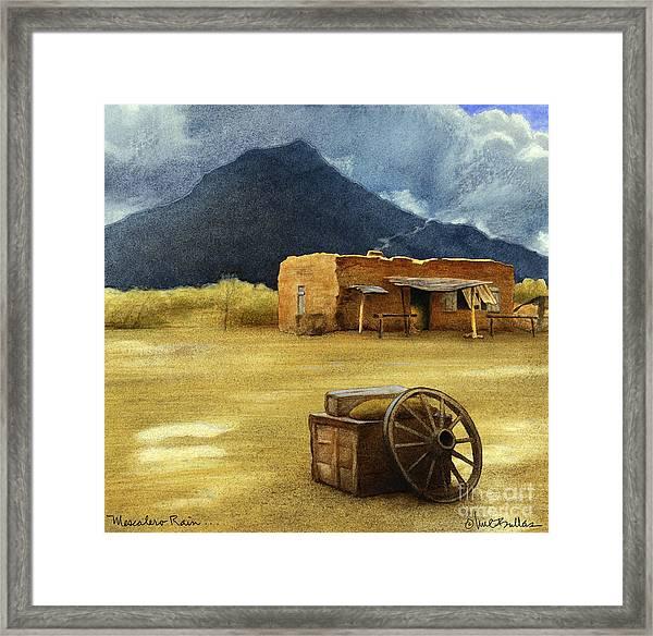 Mescalero Rain... Framed Print