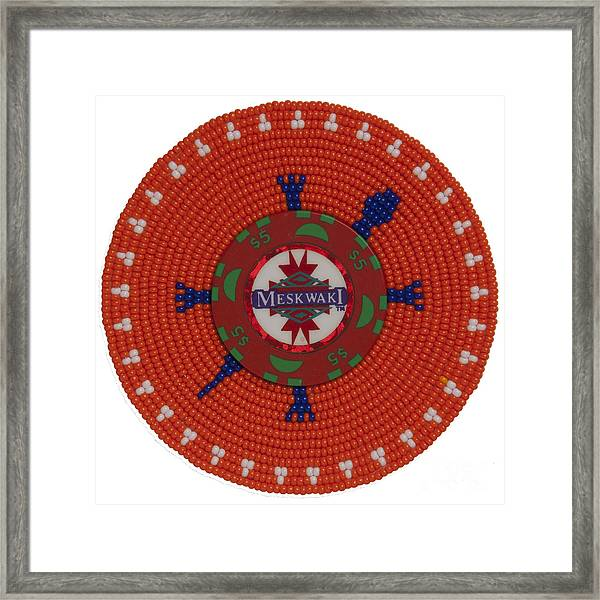 Meskwaki Orange Framed Print