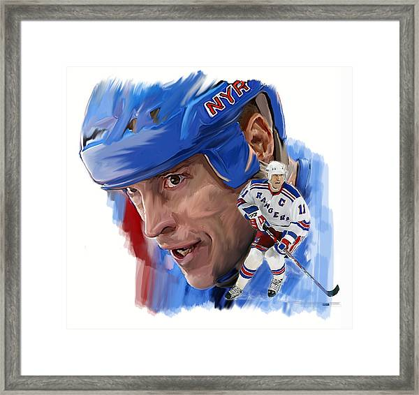 Messier II Mark Messier Framed Print