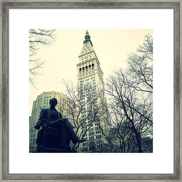 Met Life And Madison Square Park Framed Print