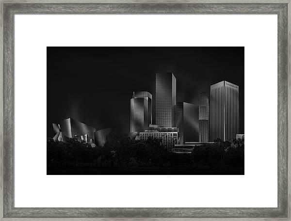 Metal Downtown L.a. Framed Print