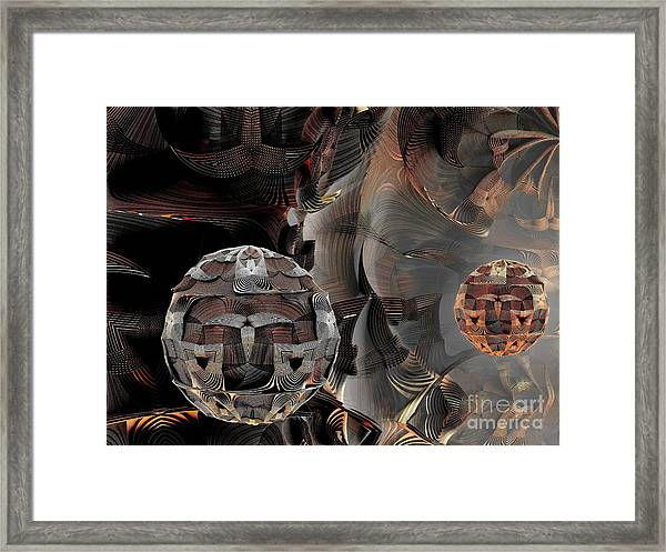 Metal Spheres Framed Print by Bernard MICHEL