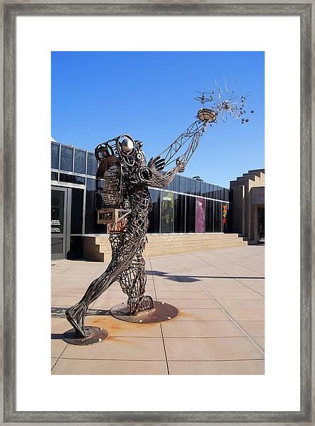 Metal Street Art Framed Print