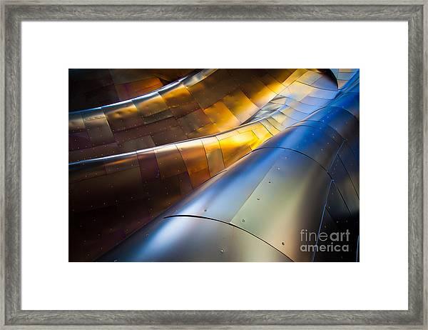 Metal Waves Framed Print