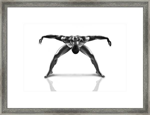 Metallic Nude 3 Framed Print by J??r??me Licois