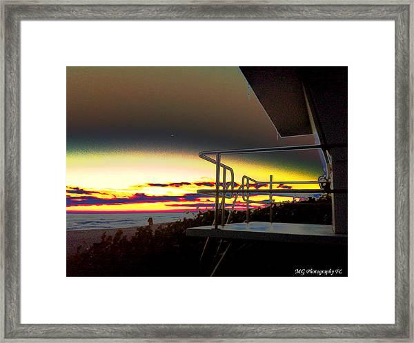 Metallic Sunrise Framed Print
