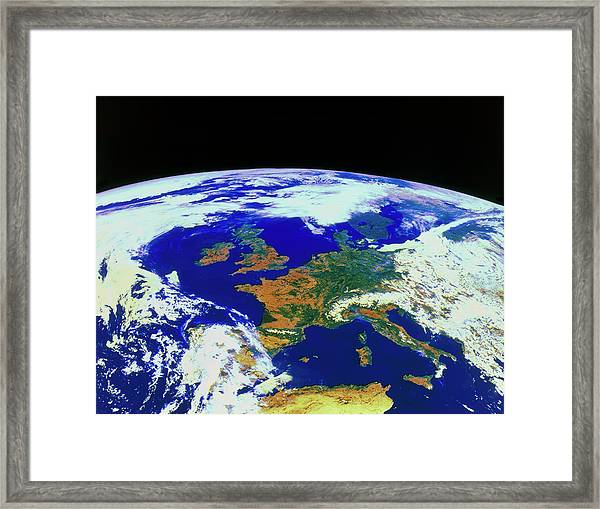 Meteosat Image Of Europe Framed Print by Esa/kevin A Horgan/science Photo Library