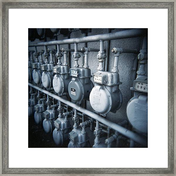 Electric Meter - Fine Art Photo Print Framed Print