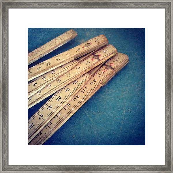 Meters Framed Print