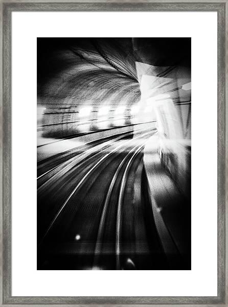 Metro Lights Framed Print by Mauro Bricchetti