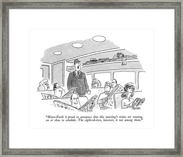 Metro-north Is Proud To Announce That This Framed Print