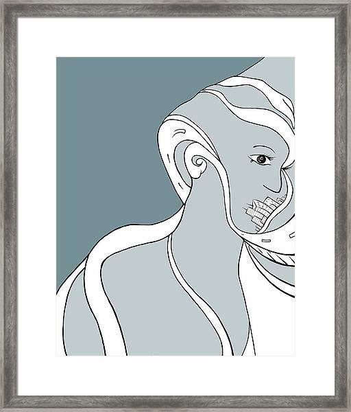 Metro Polly Framed Print