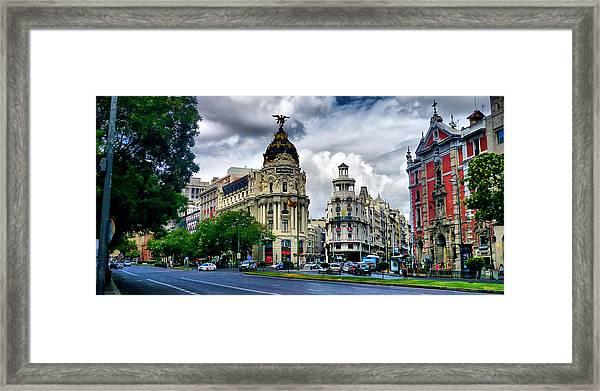 Metropolis Madrid Framed Print by Pedro Fernandez