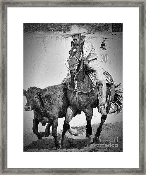 Mexican Cowboy Framed Print