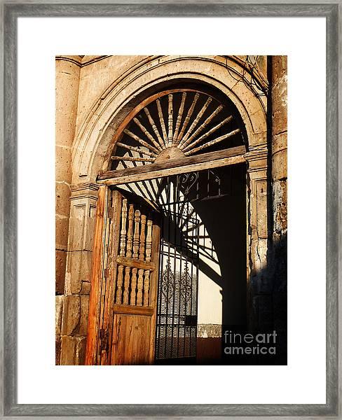 Mexican Door 27 Framed Print