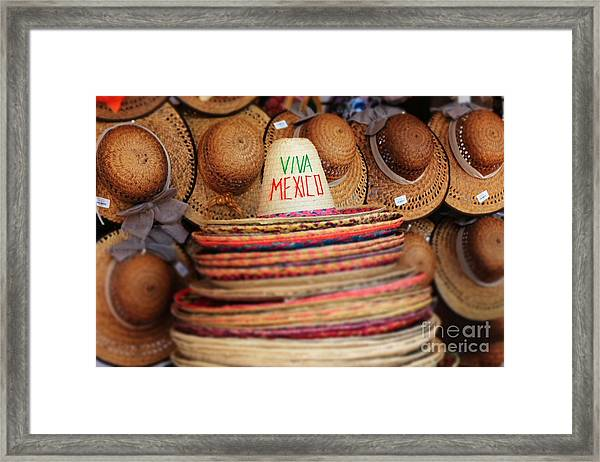 Mexican Hats Framed Print